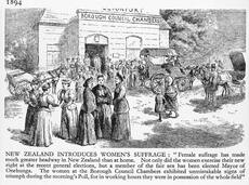 Women voting in local-body election, 1893