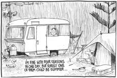 Stormy weather: a wet summer holiday