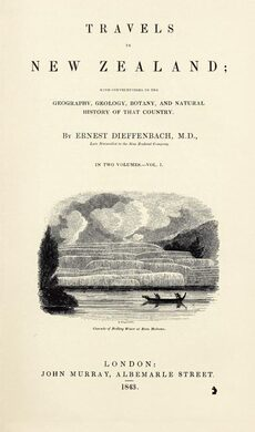 Dieffenbach's account of New Zealand