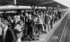 Rush-hour commuters