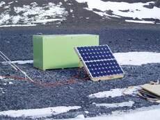 Solar-power panel, Antarctica