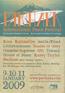 Parihaka International Peace Festival 2009 [poster]