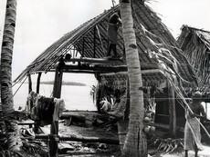 Tokelau Islands, Rebuilding a Fale.