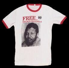 T-shirt, 'Free...Nelson Mandela'