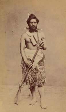 Maori man with a musket