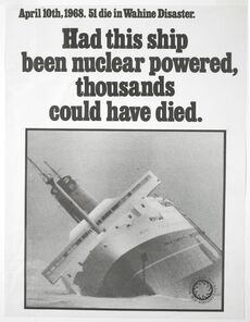 Anti nuclear-powered vessel protest poster