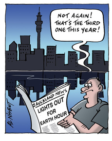 Lights out for earth hour