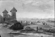 [Arden, Francis Hamar], 1841-1899 :Bell Blockhouse, Taranaki. 1860.