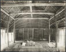 Interior of a Samoan fale