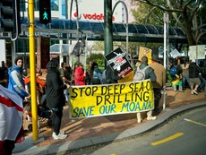 Anti Fracking protest
