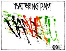Winter, Mark, 1958- :Battering Pam. 16 March 2015