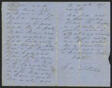 """Page two and three of letter from Riwha Titokowaru to his tribe (""""I shall not die"""")"""