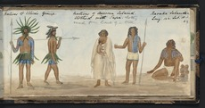 Natives of Ellices Group. Natives of Aurora Island clothed in tapa. Raraka Islander.
