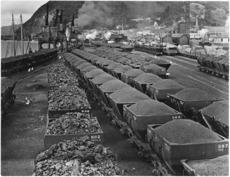 Coal on Greymouth Wharf