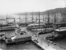 Queens Wharf in 1885