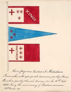Kīngitanga flags