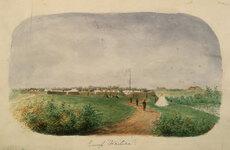 Military camp, Waitara, 1860