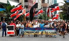 Foreshore and seabed protest, 2011