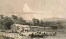 New Plymouth immigration barracks, 1841