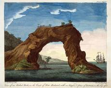 Arched rock, Mercury Bay