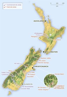 New Zealand ski areas