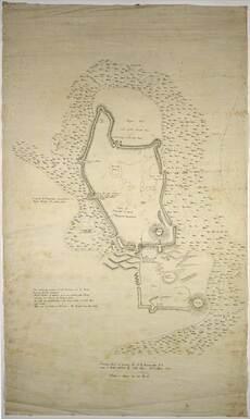Plan of Kaiapoi pā