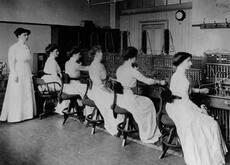 Women telephonists