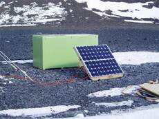 Solar-power panel, Antarctica