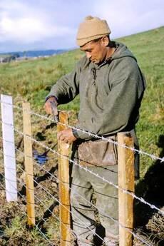Farmer fencing