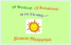 A dollop of sunshine, is on it's way...... / Blossom Albuquerque.