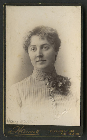 Hanna, John Robert (Auckland) fl 1883-1892 :Portrait of Mary Brown, daughter of Archdeacon Brown