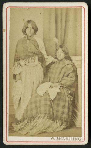 Harding, W J (Wanganui) fl 1826-1899 :Portrait of two unidentified Maori women