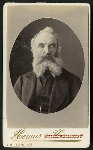 Hemus & Hanna (Auckland) fl 1879-1882 :Portrait of Capt Tunks, Tawanai
