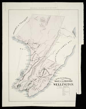 Wise's N.Z. directory map of the province of Wellington [cartographic material].