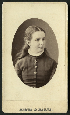 Hemus & Hanna (Auckland) fl 1879-1882 :Portrait of Mary Tunks