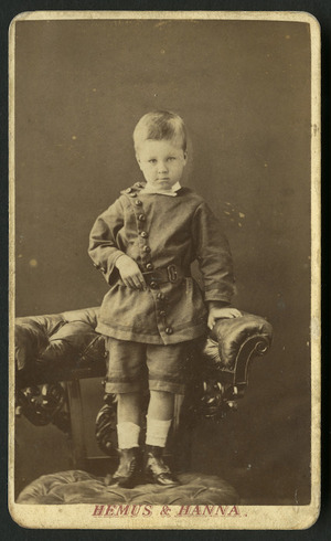Hemus & Hanna (Auckland) fl 1879-1882 :Portrait of Harold Rye