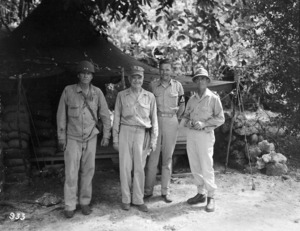 3 (NZ) Division troops on Vella Lavella Island, Pacific, World War Two