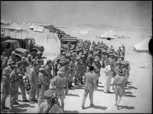 Prime Minister Peter Fraser visits NZ troops, Egypt