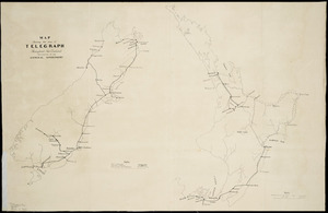 Map shewing the lines of telegraph throughout New Zealand belonging to the General Government [cartographic material].