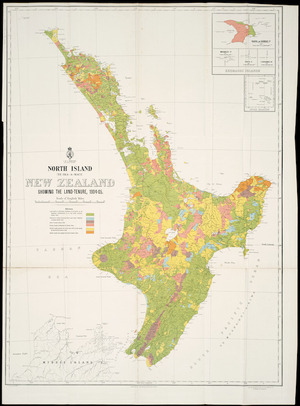 North Island (Te Ika-a-Maui), New Zealand [cartographic material] : showing the land-tenure, 1904-05 / G.P. Wilson, delt.