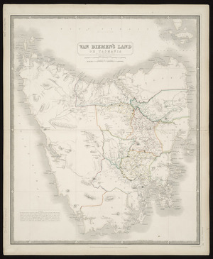 Van Diemen's Land or Tasmania [cartographic material] / by A.K. Johnston, ; engraved by W. & A.K. Johnston.