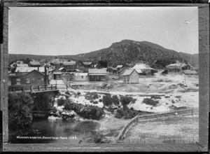 Whakarewarewa village - Photograph taken by Sigvard Jacob Dannefaerd