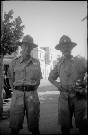 Lieutenant Colonel G H Will and Major E Button, Helwan