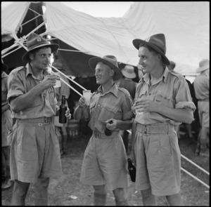 Soldiers drinking, Egypt