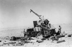 German and Ariete division guns at Alam Nayil, Egypt