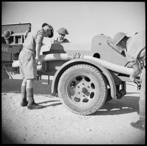 NZEF Base Fire Brigade at practice, Maadi, Egypt