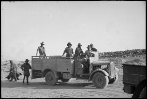 NZ soldiers in military truck, Egypt
