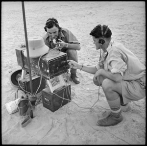Signallers at the gun position, Egypt