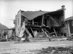 General store of H J Hodgson & Co, damaged by the 1929 Murchison earthquake