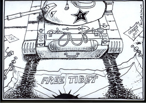 FREE TIBET. 14 March 2009